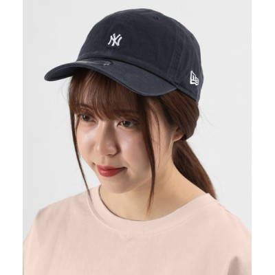 make a ray! / 【NEW ERA/ニューエラ】ニューヨーク ヤンキース クラシックミニロゴ刺繍 キャップ/ 帽子/ネイビー MEN 帽子 > キャップ