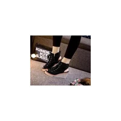 厚底スニーカーレディースサンダルローカットキャンバスカジュアルシューズローファーフラットインヒール