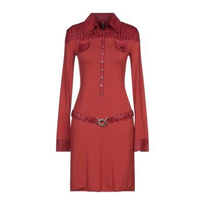 ピアヌラストゥーディ�� PIANURASTUDIO ミニワンピース&ドレス 赤茶色 44 レーヨン 73% / ポリエステル 22% / ポリウレ