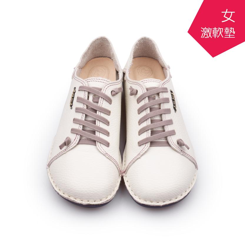 【A.MOUR 經典手工鞋】頂級牛革饅頭鞋 - 白紫(2918)