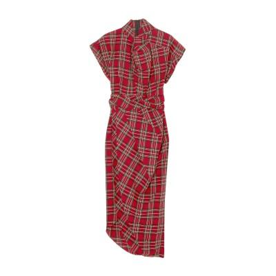 アウェイク A.W.A.K.E. MODE 7分丈ワンピース・ドレス レッド 34 コットン 100% 7分丈ワンピース・ドレス