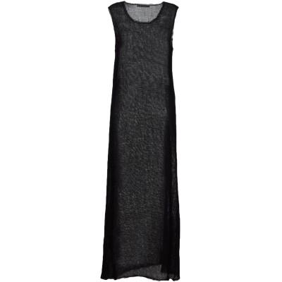 ピーチョークレイバーグ PEACHOO+KREJBERG ロングワンピース&ドレス ブラック M ウール 100% ロングワンピース&ドレス