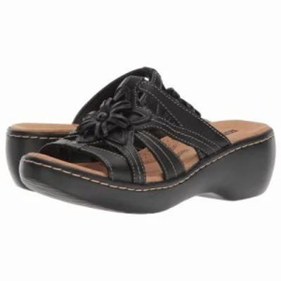 クラークス サンダル・ミュール Delana Venna Black Leather
