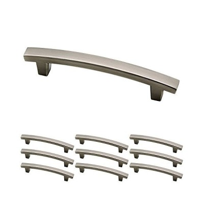 送料無料 Franklin Brass P29615K-904-B Heirloom Silver 10cm Pierce Kitchen or Furniture Cabinet Hardware Drawer Handle Pull, 10 pack