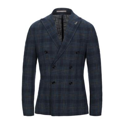 パオローニ PAOLONI テーラードジャケット ブルー 48 コットン 92% / ナイロン 7% / ポリウレタン 1% テーラードジャケット