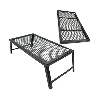 鉄製ロストルテーブル-焚き火サイドテーブル-直火・自立可-キャンプ-アウトドア用品