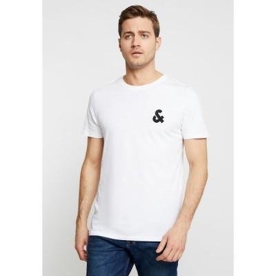 ジャック アンド ジョーンズ Tシャツ メンズ トップス JJECHEST LOGO TEE CREW NECK NOOS - Print T-shirt - white