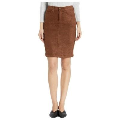 リバプール レディース スカート ボトムス Pencil Skirt in a Stretch Faux Suede