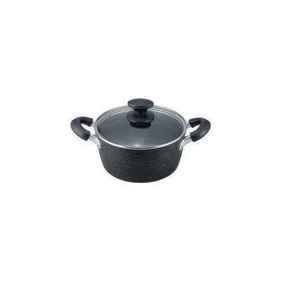 ds-2056477 IH対応 両手鍋/調理器具 【20cm】 特殊ふっ素樹脂加 金属ヘラ使用可 『マーブルプレミアム』 (ds2056477)