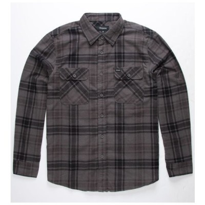 Brixton Bowery Lightweight L/S Flannel Shirt Charcoal S ネルシャツ 送料無料