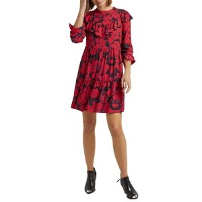 レベッカミンコフ レディース ワンピース トップス Rebecca Minkoff Margaret Dress red/black