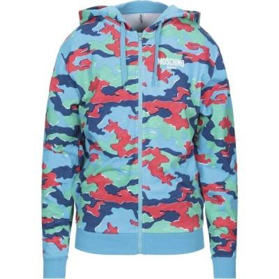 モスキーノ MOSCHINO メンズ スウェット・トレーナー トップス Hooded Sweatshirt Azure