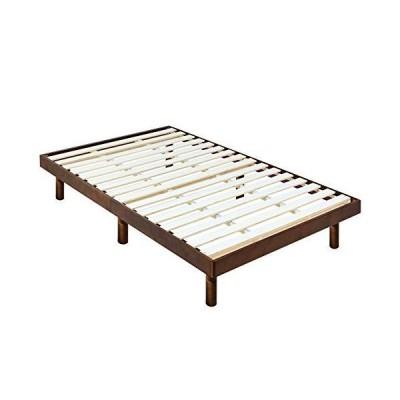 ark アーク すのこベッド 天然木 パイン材 香る 癒し ベッド (宮なしブラウン, SDサイズ)