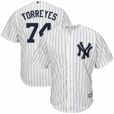 Majestic マジェスティック スポーツ用品  Majestic Ronald Torreyes New York Yankees White/Navy Home Official Cool Ba
