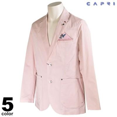 セール 80%OFF CAPRI カプリ 長袖 テーラードジャケット メンズ 春夏 花柄 ステッチ ロゴ 3231-6101