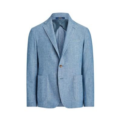 ジャケット テーラードジャケット コットン シャンブレー スーツ ジャケット