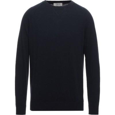 TSD12 メンズ ニット・セーター トップス Sweater Dark blue