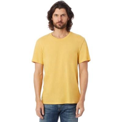 オルタナティヴ Alternative メンズ トップス Organic Crew Yellow Ochre