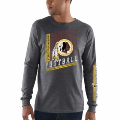 Majestic マジェスティック スポーツ用品  Majestic Washington Redskins Heathered Charcoal Dual Threat Long Sleeve T-