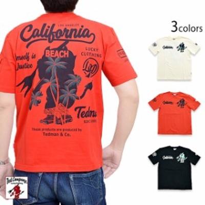カリフォルニア半袖Tシャツ TEDMAN テッドマン TDSS-529 エフ商会 efu アメカジ