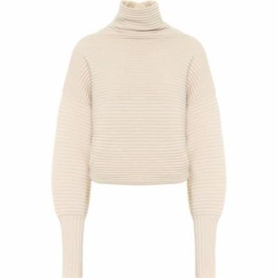 ヴィクトリア ベッカム Victoria Victoria Beckham レディース ニット・セーター トップス ribbed-knit wool turtleneck sweater Paper W