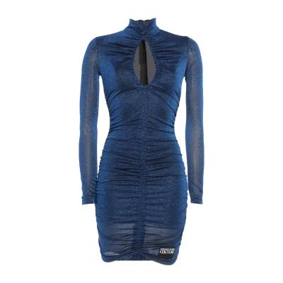 VERSACE JEANS ミニワンピース&ドレス ブルー 40 ナイロン 71% / ポリエステル 29% ミニワンピース&ドレス