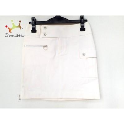 ピンキー&ダイアン Pinky&Dianne ミニスカート サイズ38 M レディース 美品 アイボリー       スペシャル特価 20200911