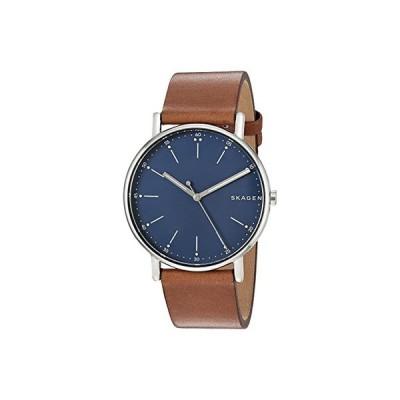 スカーゲン Signatur Three-Hand Men's Watch メンズ 腕時計 時計 ファッションウォッチ SKW6355 Silver Brown Leather