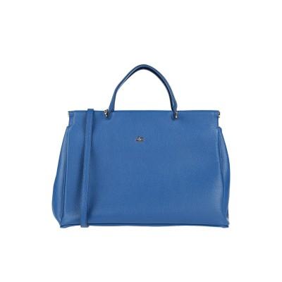J&C JACKYCELINE ハンドバッグ ブライトブルー 革 ハンドバッグ