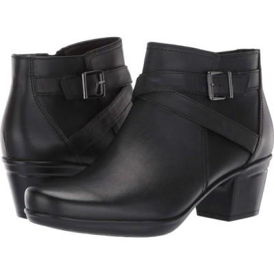クラークス Clarks レディース ブーツ シューズ・靴 Emslie Cyndi Black Leather