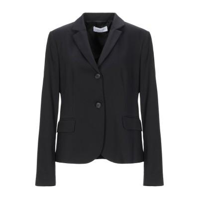 CARACTÈRE テーラードジャケット ブラック 48 コットン 63% / ナイロン 32% / ポリウレタン 5% テーラードジャケット