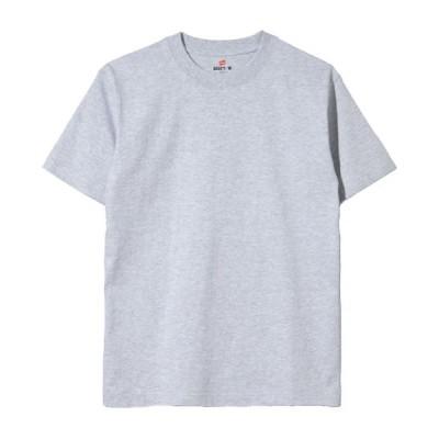 Hanes/ヘインズ BEEFY半袖Tシャツ2P【2枚組】 060ヘザーグレー XL