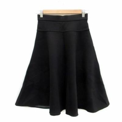 【中古】ガリャルダガランテ GALLARDAGALANTE スカート フレア ミモレ丈 0 ブラック 黒 /MS12 レディース
