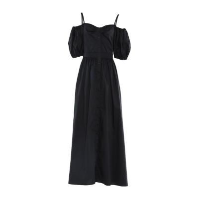 アトス ロンバルディーニ ATOS LOMBARDINI ロングワンピース&ドレス ブラック 40 コットン 79% / ナイロン 18% / ポリ