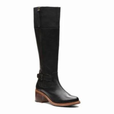 クラークス ブーツ Clarkdale Sona Knee High Boot Black Full Grain Leather