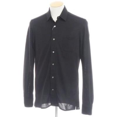 エム ピー ディ マッシモ ピオンボ MP di MASSIMO PIOMBO コットンジャージーカジュアルシャツ ブラック S