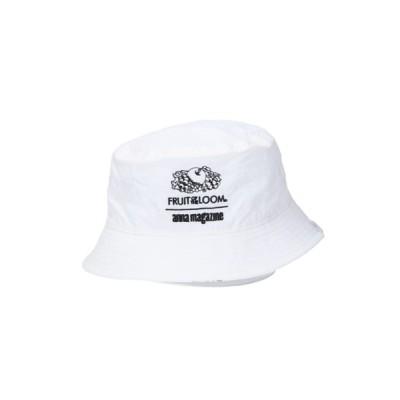 MASSIVE STORE / 【FRUIT OF THE LOOM/フルーツオブザルーム】 FTL x ANNA REVERSIBLE BUCKET HAT/アンナマガジンコラボリバーシブルハット MEN 帽子 > ハット