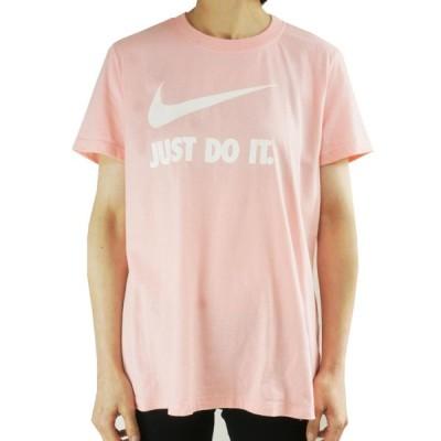 NIKE ナイキレディース TシャツJUST DO IT NIKE LOGO TEEPINK(ピンク)AT2785 ストリート ロゴ スポーツ 白