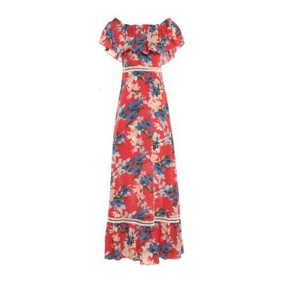 TRAFFIC PEOPLE ロングワンピース&ドレス レッド S ポリエステル 100% ロングワンピース&ドレス