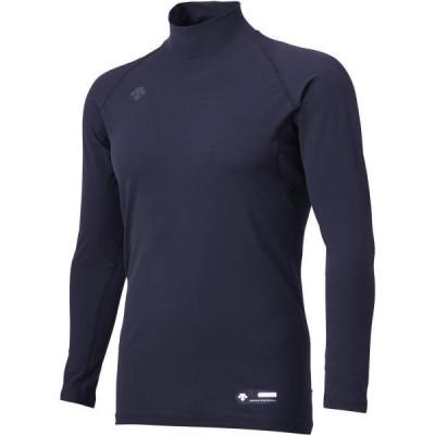 アンダーシャツ メンズ ロングTシャツ メンズ トップス メンズ ハイネック長袖アンダーシャツ Dネイビー  (DES)(QCB02)