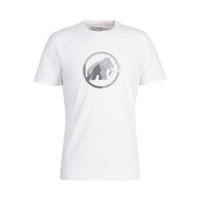 マムート メンズ Tシャツ トップス Mammut Men's Logo T-Shirt White Print 4