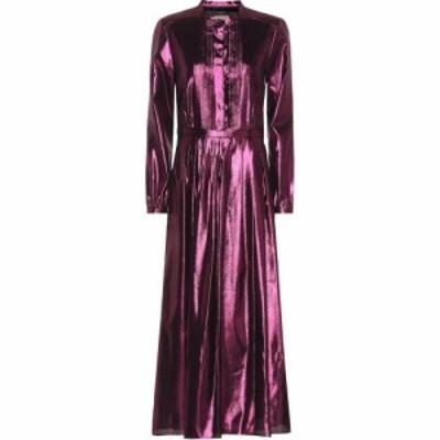 バーバリー Burberry レディース ワンピース マキシ丈 ワンピース・ドレス Metallic silk-blend maxi dress Bright Fuschia