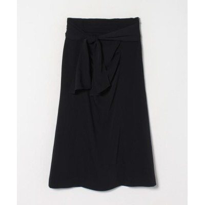LANVIN en Bleu/ランバン オン ブルー ドレープタイトスカート ネイビー4 38