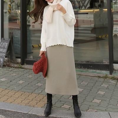 体型カバーに効くユーアンドミースカート4-color
