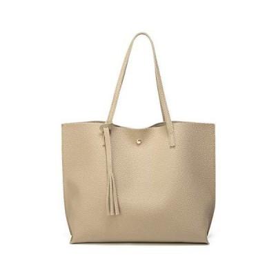Women's Soft Leather Tote Shoulder Bag Big Capacity Tassel Handbag並行輸入品 送料無