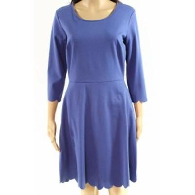 ファッション ドレス Lola Grace NEW Blue Sky Size Medium M Junior A-Line Scalloped Dress