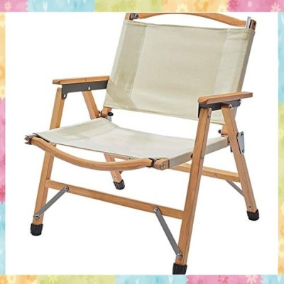 TOMOUNT クラシックチェア 木製 ウッド アウトドア チェア コンパクト収納 脚キャップ 折りたたみ椅子 耐荷重100kg