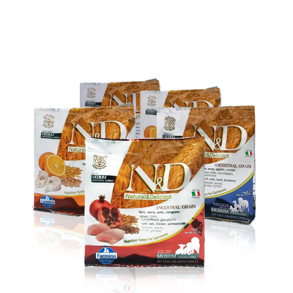 法米納|犬用天然寵糧旅行包-4包組(口味隨機)