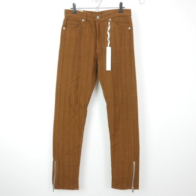 17AW 17FW The Letters ザ レターズ 5 Pocket Corduroy Side Zip Pant. 製品洗い加工 ウール 裾ジップ コーデュロイ パンツ CAMEL M