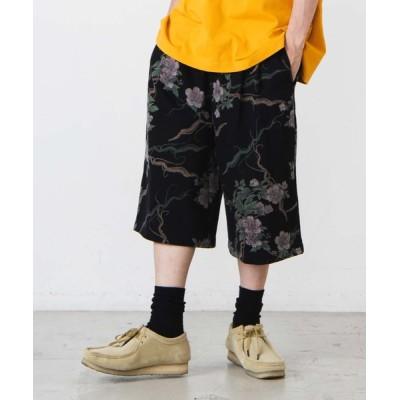 パンツ スラックス WEGO/総柄タックバギーショーツ